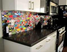 skateboard tiles -stylish way of hanging onto youthful memories - maybe not for a wall tile but cool to frame for wall art.