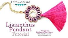 paros par puca beads - Google Search Jewelry Making Tutorials, Jewelry Making Beads, Beading Tutorials, Jewelry Making Supplies, Beaded Jewelry, Pendant Jewelry, Beading Patterns Free, Bead Patterns, Diy Jewelry Inspiration