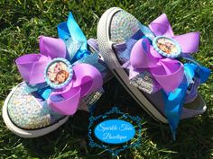 FROZEN SHOES - Elsa and Ana - Frozen Party - Elsa Costume - Frozen Birthday - Crystals - Bling Converse - Infant/Toddler/Youth