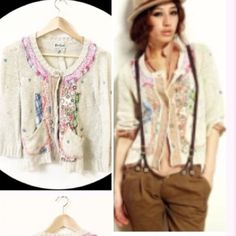 Patched light cardigan Super chic Sweaters Cardigans