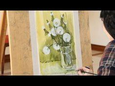 «Уроки рисования». Этюд акварелью и гуашью (29.01.2016) - YouTube