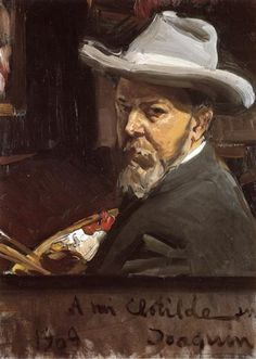 Self-Portrait - Joaquín Sorolla -- Completion Date: 1909