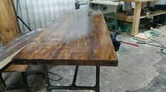 Pipe reclaimed industrial desk