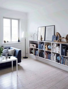 Simple and Clean Demark Home. Books.