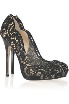 #shoes. Jimmy choo, patent leather lace pumps
