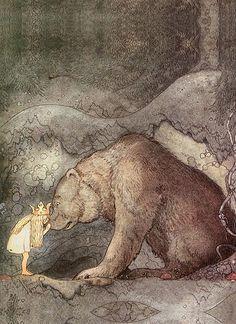 animal love (this makes me think of my stuffed bear, Bruno) #kiss #bear #art