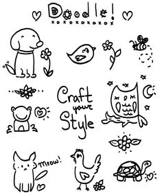 Use this printable template to express your creativity through doodling!