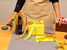 Doppel-Zweiflügelschleife | Geschenkbandideen