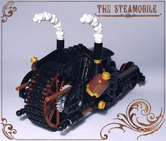 https://flic.kr/p/9VK7QD | Steamobile - back view | Years before his grand-son, Sutton Wayne had some inclination for justice and fine mechanics ...