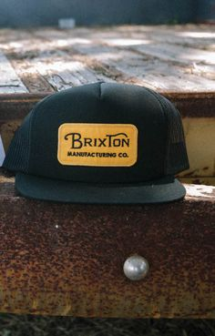 fcc7c9d6086 The Brixton Grade Mesh Hat is a five panel cut and sew foam backed cotton  mesh cap with a custom embroidered patch.