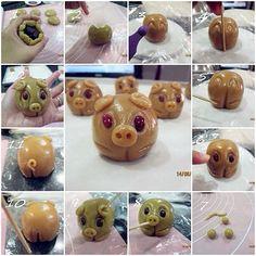 姜姜窝居 Jovin Wong's Kitchen: 小猪猪月饼食谱和制作过程(感谢网友Spdong无私分享的制作图片)