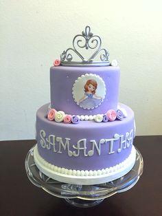 Princess Sofia cake with gumpaste tiara by Cake Couture.   Cake Couture fondant
