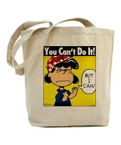 Take a look at this Lucy The Riveter Tote Bag by CafePress on #zulily today!