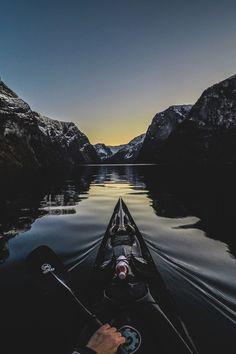 """lsleofskye: """"Night on the fjord """""""