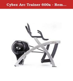 "Cybex Arc Trainer 600a - Remanufactured W/warranty. Voted ""Product of the Year"" two years running. Patented Advanced StrideTechnology offers a smooth and comfortable ride. Adjustable inclineprovides variability in the pattern of motion. Low inclines provide agliding action with modest hip and knee motion while higher inclinesprovide comparable increases in hip and knee motion. Superiorbiomechanics allow for high intensity training that places high loadson the muscles with less stress on..."