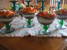 Cinco de Mayo - serve layered guacamole salad in margarita glasses