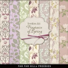 6 Free Digital Scrapbook Papers and Elements from Far Far Hill:  Read about downloading from Deposit Files HERE. It can be frustrating.   ...