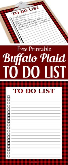 Buffalo Plaid To Do