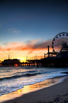 When in Los Angeles be sure to check out Santa Monica! Ride rides on the Santa Monica Pier, check out amazing restaurants, or simply relax at the beach.