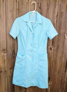 Vintage Short White Uniform Dress Waitress Nurse Maid Rockabilly ...