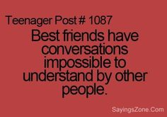 Its just a Best Friend thing!!<3<3