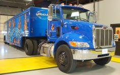 Bud Light Peterbilt tractor with Mickey Beverage Bodies at Ajax Turner Anheuser Busch. Transform your commercial delivery business into a safe fleet operation with HTS Systems' safety and productivity equipment.