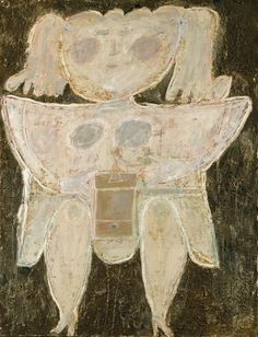 1945 Woman Grinding Coffee plaster, oil, tar & sand on canvas 116.2 x 88.9 cm © 2011 Artists Rights Society (ARS), New York