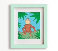 Cute Monkey in your room by Seriforama on Etsy