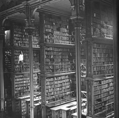 """So Little Time...  Interior of the """"Old Main"""" building of the Public Library of Cincinnati and Hamilton County."""