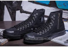 http://www.nikeriftshoes.com/pure-black-high-s-converse-two-line-eyelets-side-zip-ct-as-canvas-top-deals-ssde2.html PURE BLACK HIGH TOPS CONVERSE TWO LINE EYELETS SIDE ZIP CT AS CANVAS LASTEST MS8WJ Only $54.00 , Free Shipping!