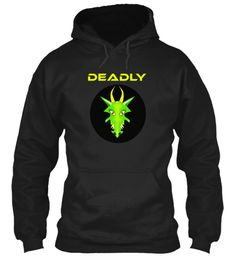 Deadly Black Sweatshirt Front