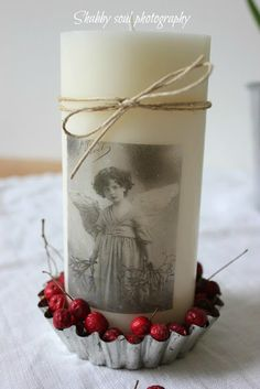 DIY Decorated candles - Shabby Soul