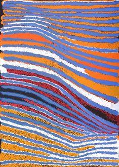 Lilly Napanangka Walker - Pirlarla Jukurrpa (Dogwood Tree Bean Dreaming) - 107 x 76 cm http://www.aboriginalsignature.com/art-aborigene-yuendumu/pauline-napangardi-gallagher-mina-mililly-napanangka-walker-pirlarla-jukurrpa-dogwood-tree-bean-dreaming-107-x-76-cm