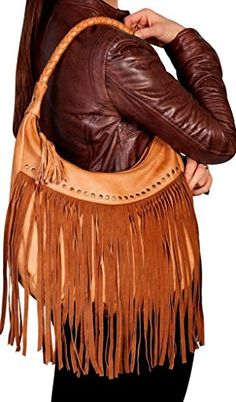 Scully Soft Leather Fringe Hobo (Caramel) *** Check this awesome product by going to the link at the image.