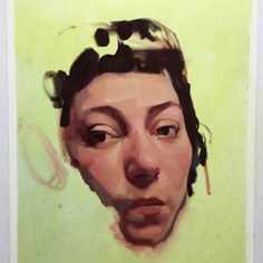 self portrait study, oil on paper, private collection