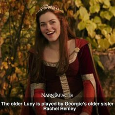 The Chronicles Of Narnia Image: The Chronicles of Narnia: The Lion, The Witch & The Wardrobe Narnia Movies, Narnia 3, Chronicles Of Narnia Books, Lucy Pevensie, Georgie Henley, Movie Facts, Cs Lewis, Book Fandoms, Movies Showing