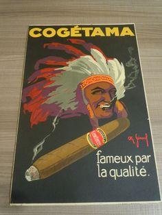 Advertising card for cigars-1931 Cogetama