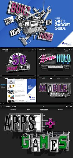Stephan Walter / The Daily 2013 Gadget + Gift Guide – News – Début Art – Illustrators and Artist Agents, London Typography Letters, Lettering, Gadget Gifts, Mobile App, Illustrators, Gift Guide, 2d, Gadgets, Calligraphy
