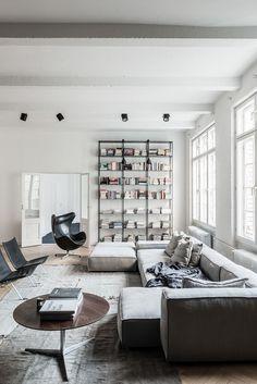 Modern Neutral Living Room | Alquimia Deco: Un Elegante Loft Masculino Con  Estudio De Música Part 72