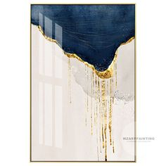 Framed Wall Art 3 Piece Set of 3 Prints Abstract Gold Navy Blue Print Painting on Canvas Large Wall Art Pictures Cuadros Abstractos – Malerei Resin Wall Art, Gold Wall Art, Gold Art, Gold Leaf Art, Arte Digital Fantasy, Blue Artwork, Hand Painted Canvas, Wall Art Pictures, Painting Pictures