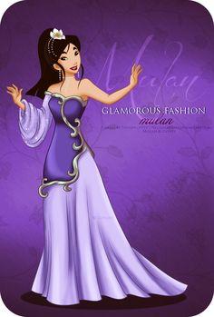 Glamorous Fashion Mulan (Purple) : deviantART by selinmarsou