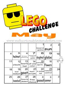 Lego Monthly challenges