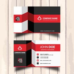 simple blue black and white business card free vector disea±o