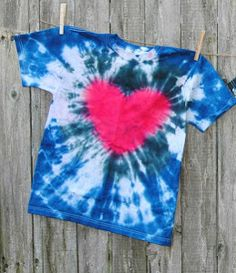 Awesome!!! This teaches you how to make a Tie Dye Heart Shirt...this is the coolest fabric craft for kids!!
