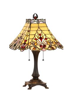 """""""Abigale"""" Sweet, Tiffany Style Table Lamp"""