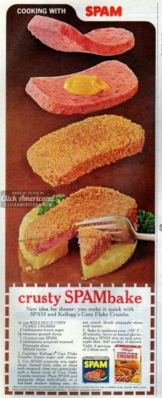 Crusty SPAMbake recipe (1968)