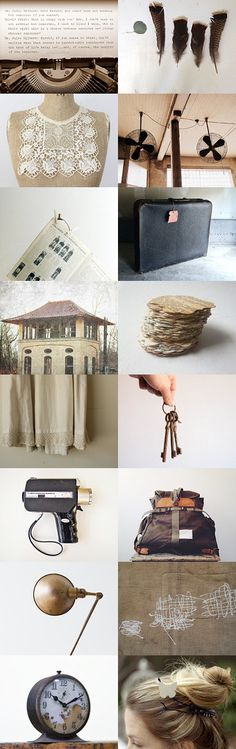 b y g o n e  by heidi on Etsy--Pinned with TreasuryPin.com #strangerthanfiction #moviequote #typewriter #sepia
