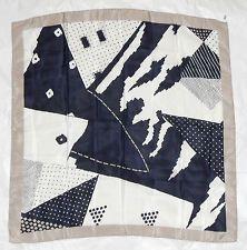 Vintage Bruestle hand rolled edge 100% silk scarf