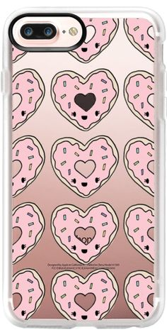 Casetify iPhone 7 Plus Case and iPhone 7 Cases. Other Valentine iPhone Covers - Doughnut Love by Claudia Ramos | Casetify