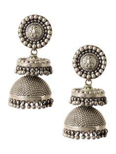 #jewel #silver #earring #jhumka #bold #beautiful